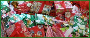 wrapped Xmas presents