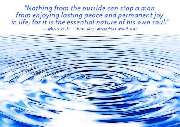 "'Nothing can stop"" Maharishi quote"